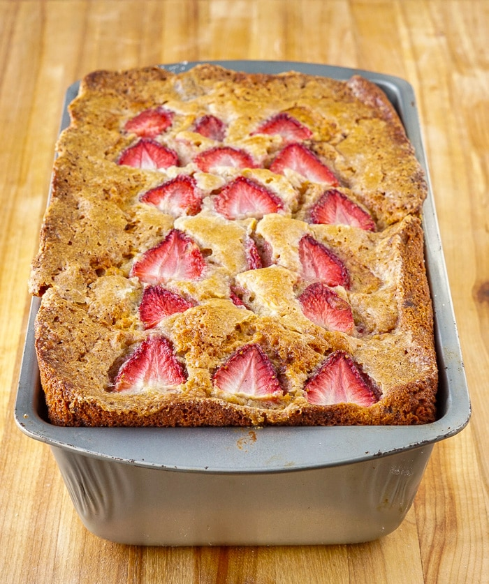 Strawberry Banana Bread just out of the oven