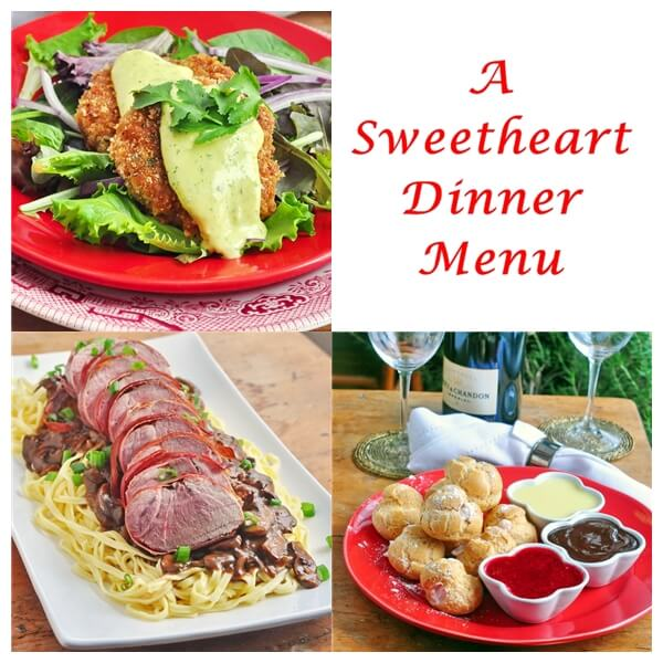 Sweetheart Valentines Day Dinner Menu