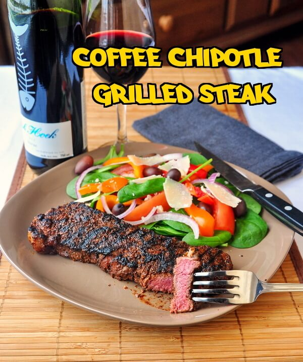 Coffee Steak - rubbed with chipotle & Espresso ground coffee.