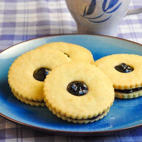Lemon Blueberry Jammie Dodgers
