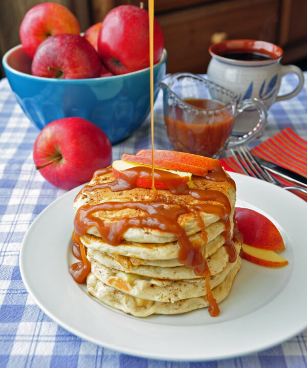 Caramel apple Pancakes one of our best pancake recipes