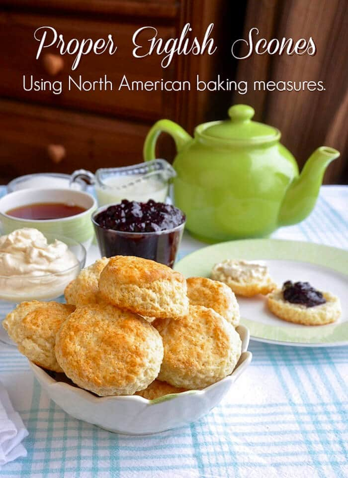 Proper English Scones usiing Ameriacan volume cup measurements instead of British ingredient weights.