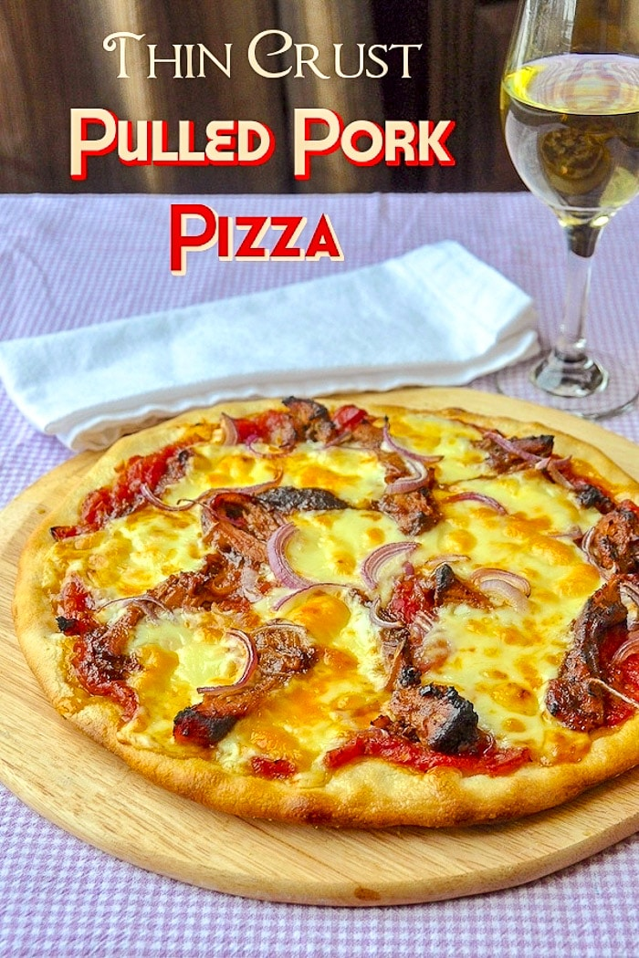 Pulled Pork Pizza image with title text for Pinterest