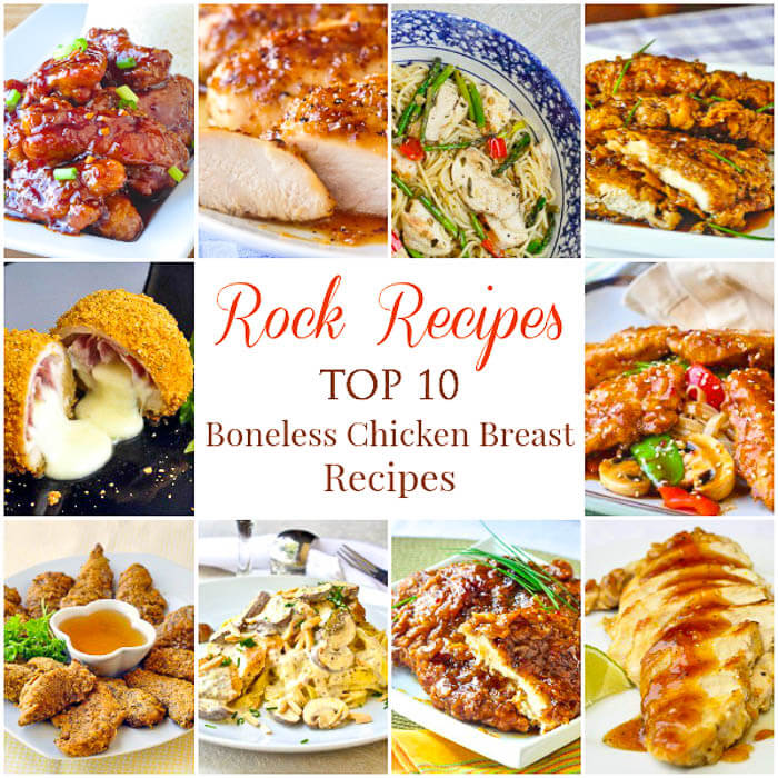 Boneless Chicken Breast Recipes Collage