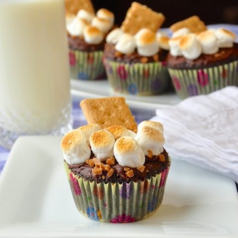 Skor S'mores Cupcakes