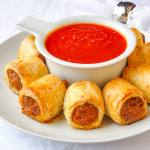 Italian Sausage Rolls in Parmesan Pastry