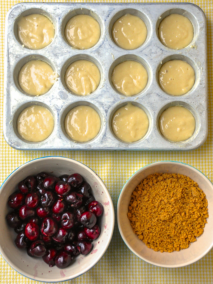 Preparing to add the cherries