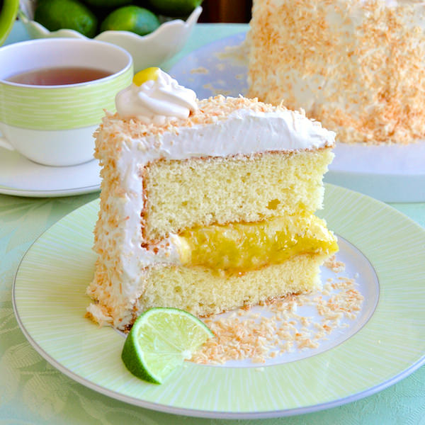 Coconut Lime Marshmallow Cake