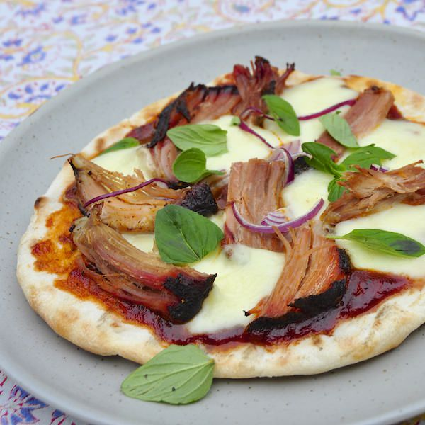 Grilled Pulled Pork Pizza