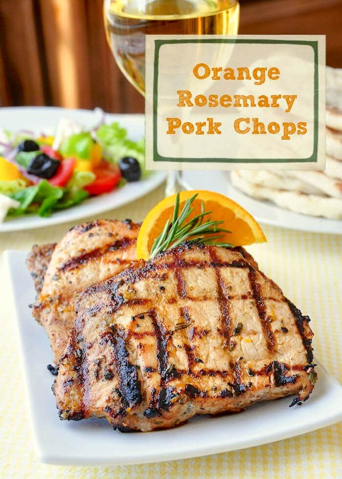 Orange Rosemary Pork Chops