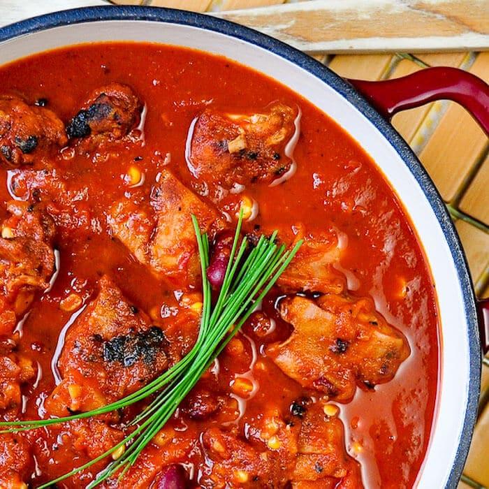 Barbecue Chicken Chili close up image