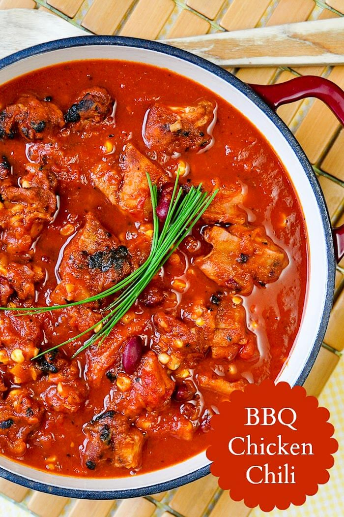 Barbecue Chicken Chili with text