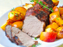 Grilled Balsamic Peach Pork Tenderloin