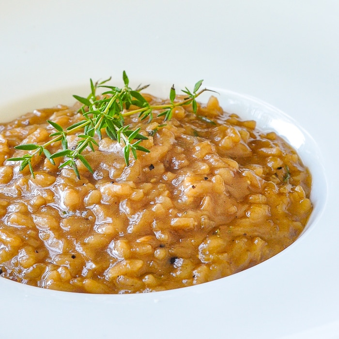 Easy French Onion Risotto. This video recipe dispels the myth that risotto is difficult to prepare. A little time and patience are all that 's needed and practically no skill at all.