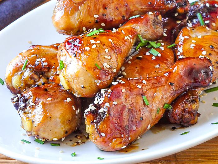 Glazed Sesame Chicken close up photo