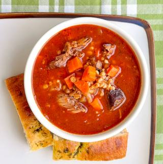 Braised Short Rib Beef Barley Soup
