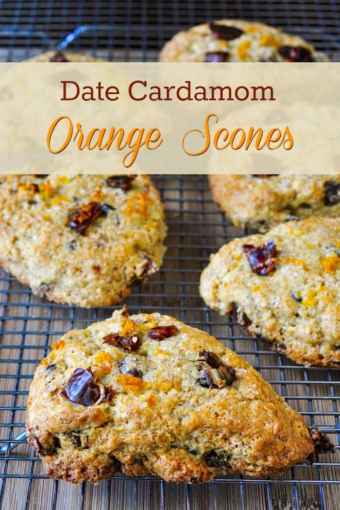 Date Cardamom Orange Scones image with title text