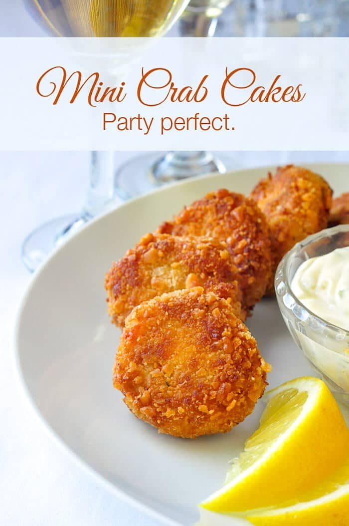 Mini Crab Cakes with Title Text