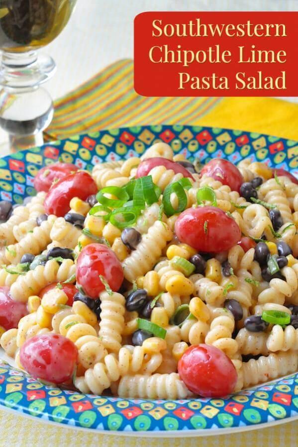 Southwestern Chipotle Lime Pasta Salad