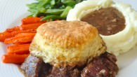 Braised Beef Pot Pie with Biscuit Topping