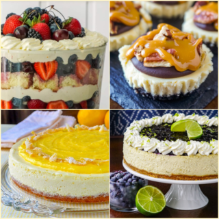 Ten Best Cheesecake Recipes 4 photo square collage