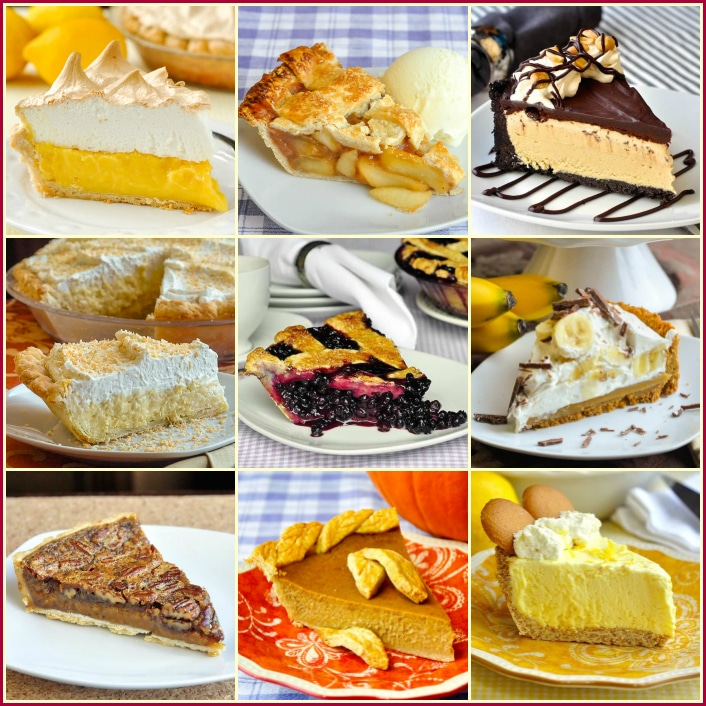 Top Ten Pie Recipes by Rock Recipes square photo collage for featured image