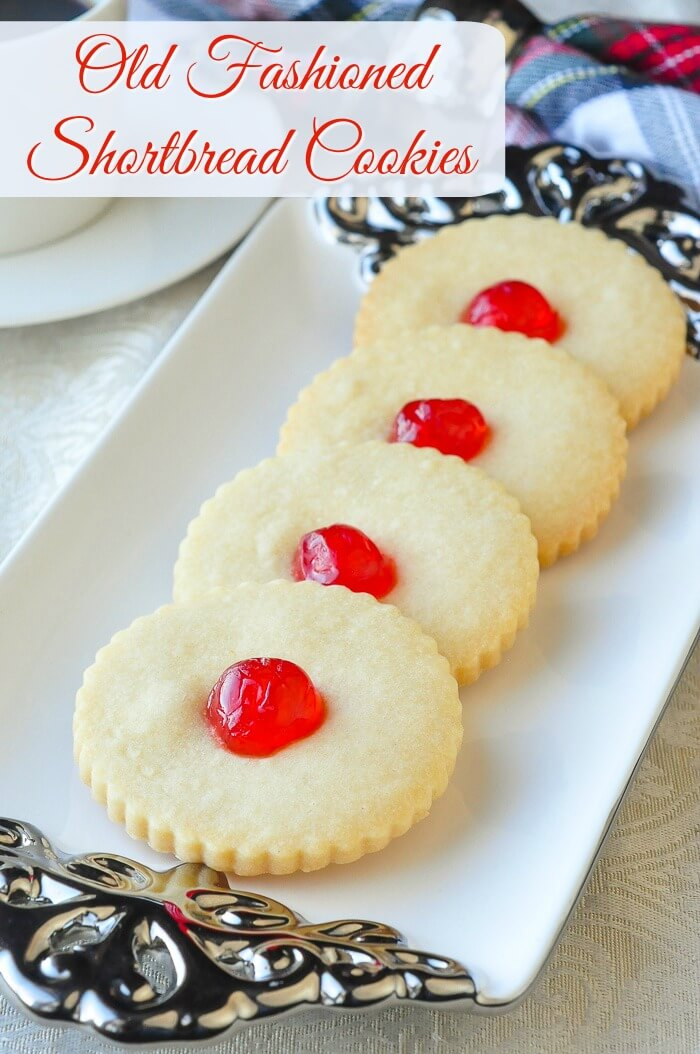 ld Fashioned Shortbread Cookies with text