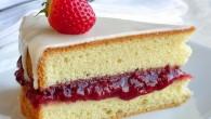 Strawberry Vanilla Sponge Cake