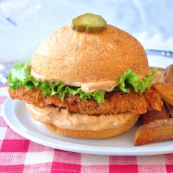 Copycat Big Mary Chicken Sandwich and Taters