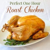 How to Roast a Chicken - the quick and easy way in only an hour!