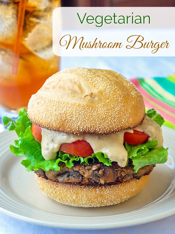 This vegetarian mushroom burger recipe certainly is not short on flavour. Make them as burgers or sliders at parties & even the meat eaters will love them! #vegetarian #mushroomburger #healthyeating #meatlessmonday