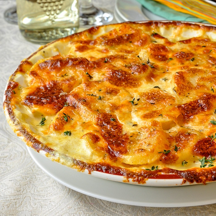 Creamy Dijon Garlic Potatoes Dauphinoise
