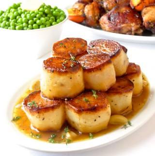 Garlic Thyme Fondant Potatoes