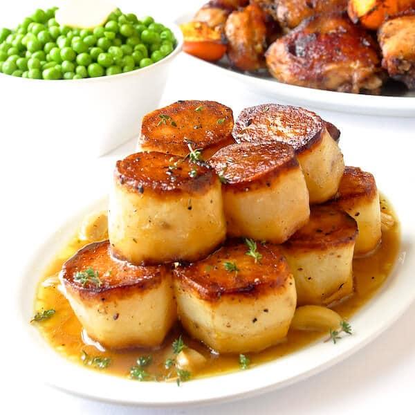 Sode Dishes: Garlic Thyme Fondant Potatoes A Homey Yet Elegant Side Dish