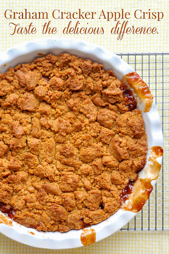 Easy Deep Dish Apple Crisp - with a graham crumb topping!
