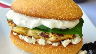 Lemon Oregano Chicken Burgers with Tzatziki