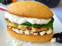 Lemon Oregano Chicken Burgers with Tzatziki