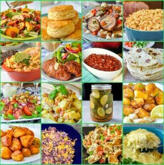 26 Best Barbecue Side Dishes square photo collage for featured image