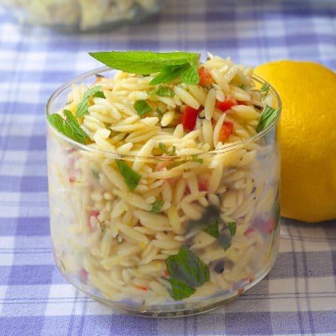 Lemon Mint Orzo Salad