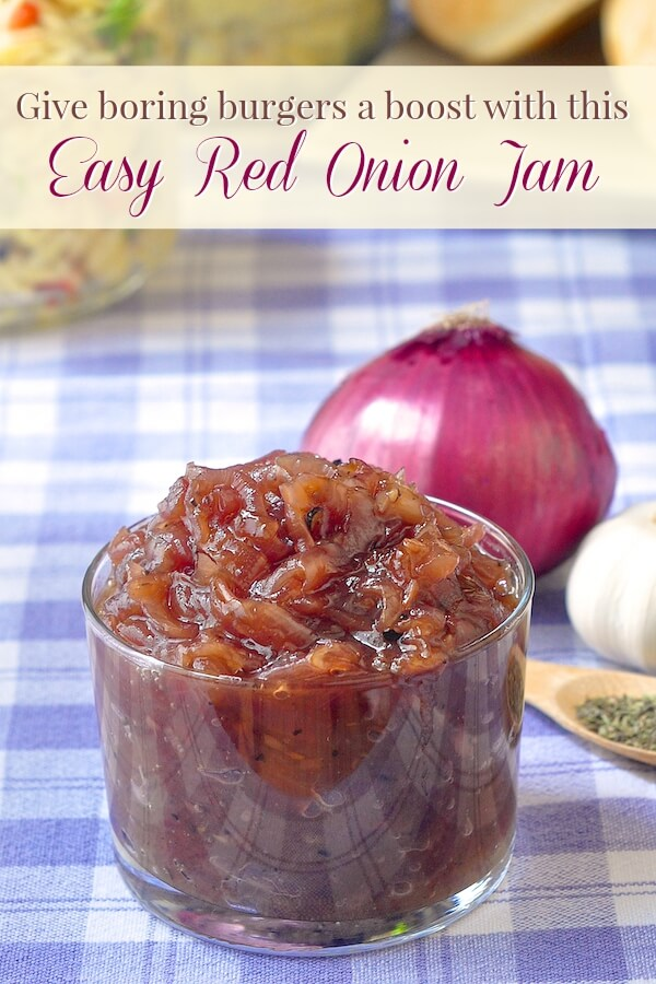 Red Onion Jam - a sweet & tangy addition to grilled meats! - Rock ...