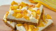 Peach Cheesecake Cookie Bars