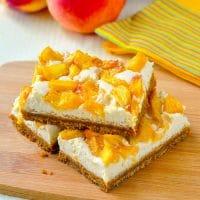Peach Cheesecake Cookie Bars