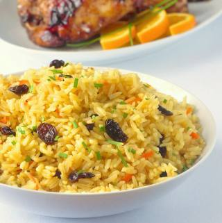 Carrot Raisin Rice Pilaf