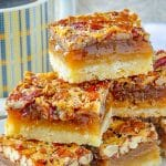 The Best Pecan Pie Bars close up photo