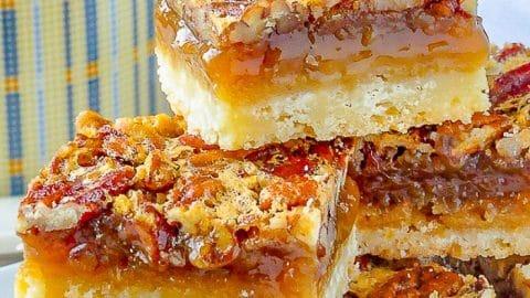 The Best Pecan Pie Bars close up photo