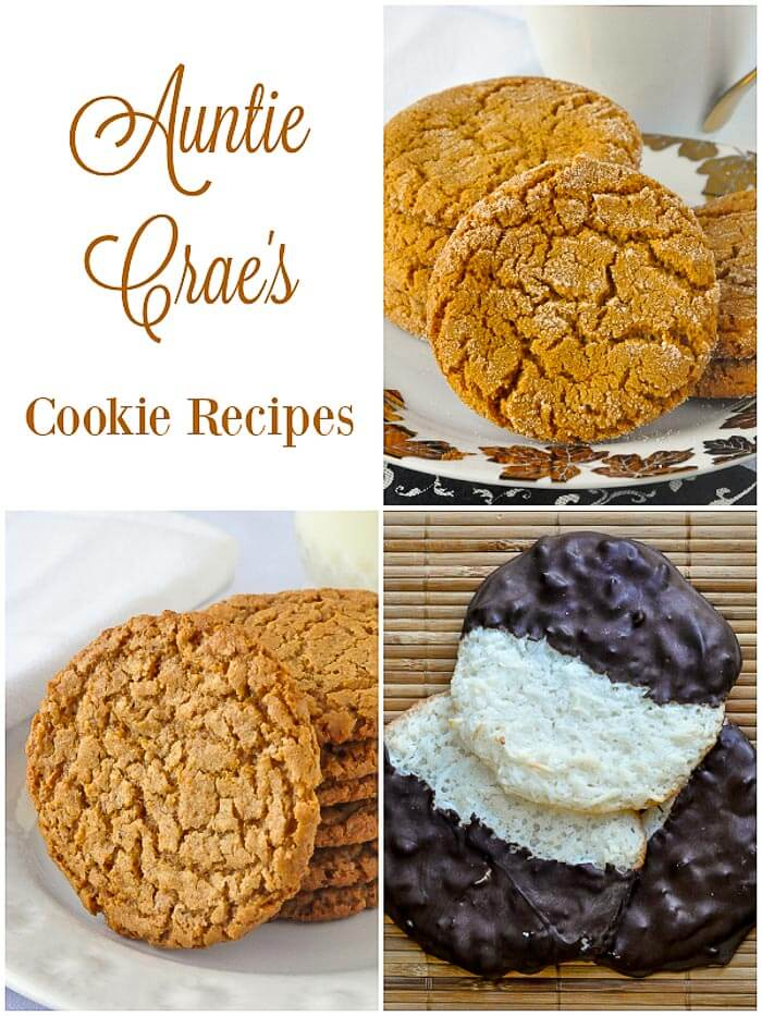 Auntie Crae's Cookie Recipes Plantation Chews Chocolate Macaroons and Ginger Sugar Cookies