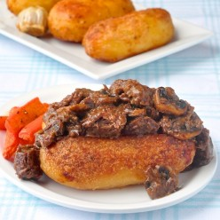 Guinness Braised Beef and Roast Potatoes