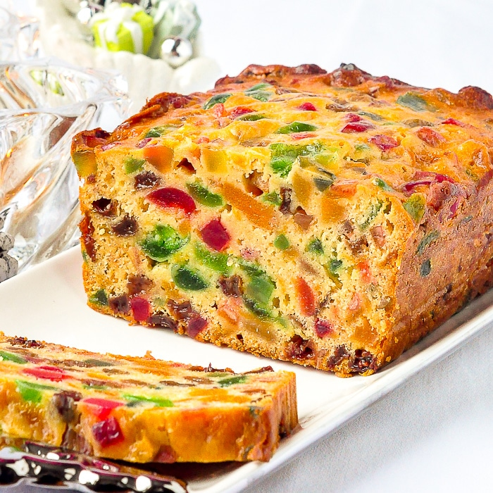 Apricot Fruitcake close up square cropped featured image