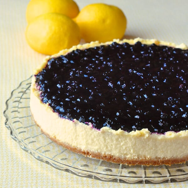 Sour Cream Blueberry Lemon Flan