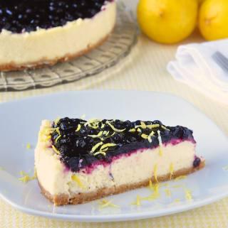 Sour Cream Blueberry Lemon Flan